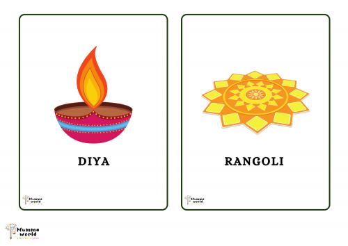 Diwali Flash Cards For Kids