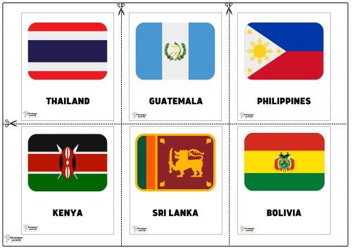 Flags Of Countries - Thailand   Guatemala   Philippines   kenya   Srilanka   Bolvia