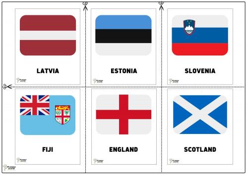 Flags Of Countries - Latvia   Estonia   Slovenia   Fiji   England   Scotland