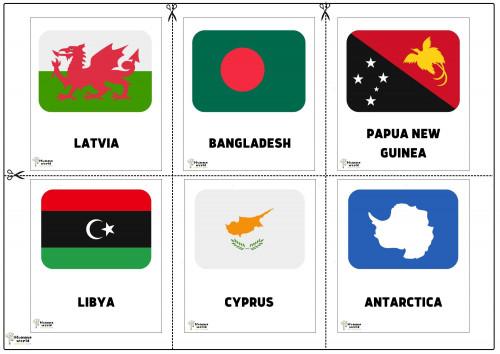 Flags Of Countries - Lavtia  Bangladesh   Papua New Guinea  Libya   Cyprus   Antarctiva
