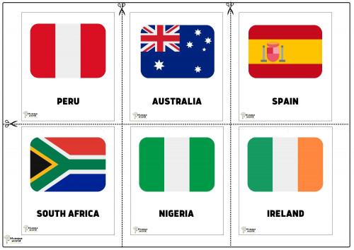 Flags Of Countries -Peru   Australia   Spain   South Africa   Nigeria   Ireland