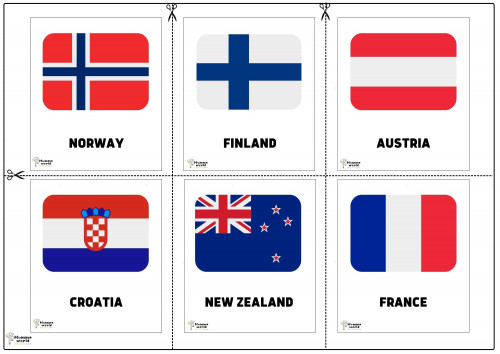 Flags Of Countries -Norway   Finland   Austria   Croatia   New Zealand   France