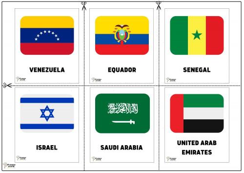 Flags Of Countries -Venezuela   Equador   Senegal   Israel   Saudi Arabia   United Arab Emirates
