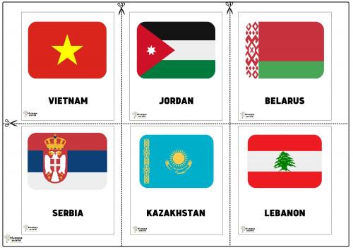 Flags Of Countries -Vietnam   Jordan   Belarus   Serbia   Kazakhstan   Lebanon