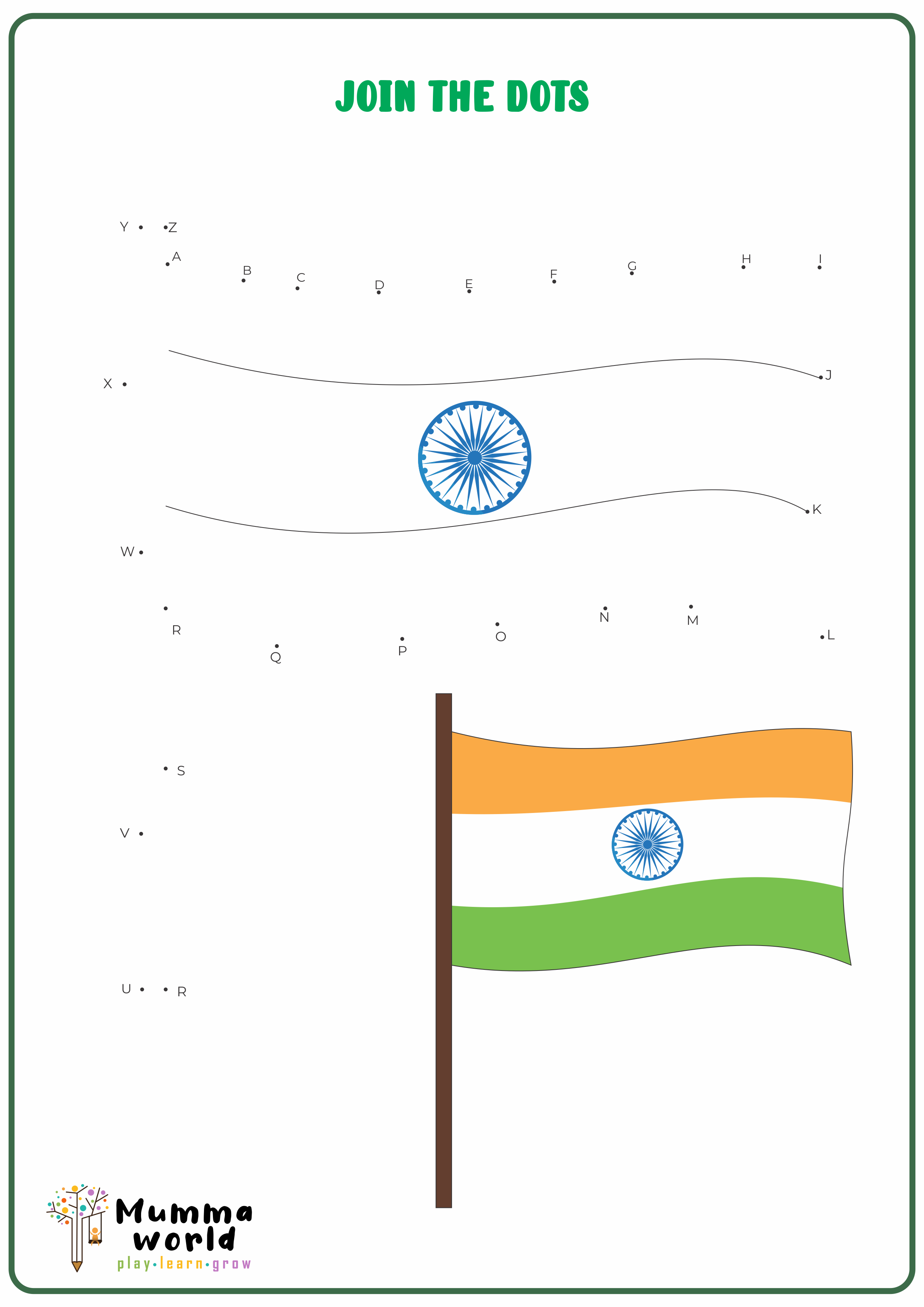 indian National Flag – DOT TO DOT