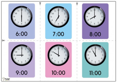 How To Teach Your Child To Tell Time | Time Flashcards
