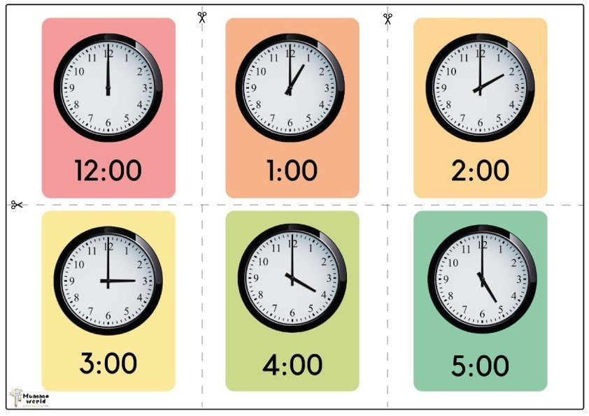 Time Telling Flashcards