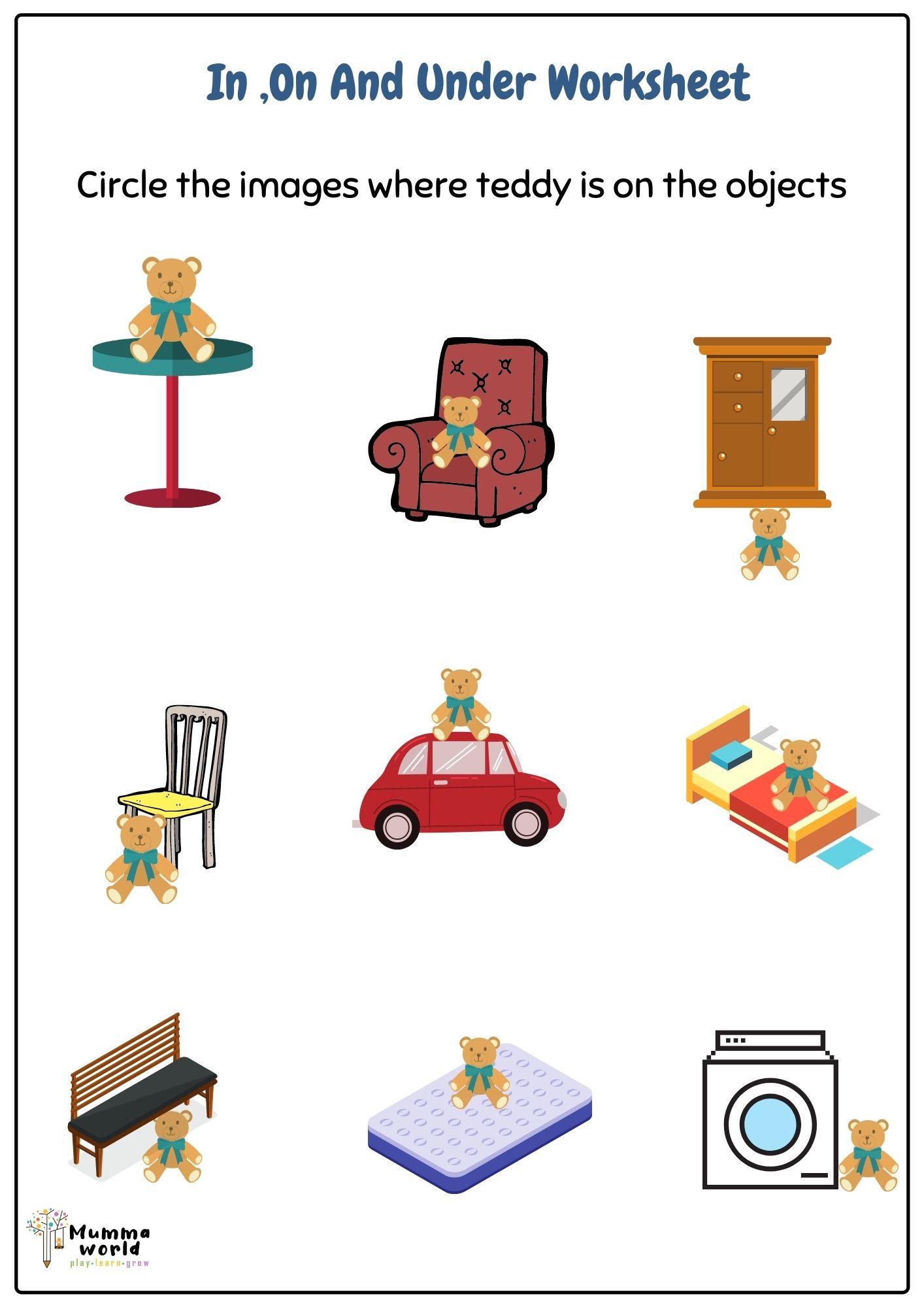 Preposition Worksheet