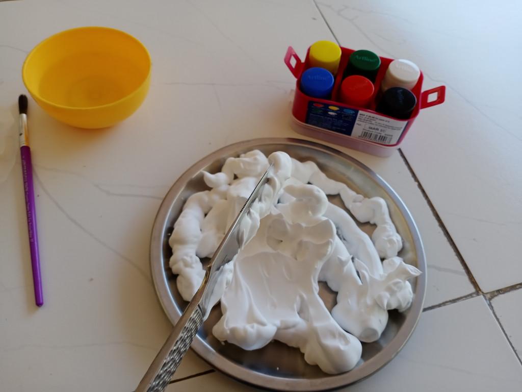 Marble Art For Kids With Shaving Foam