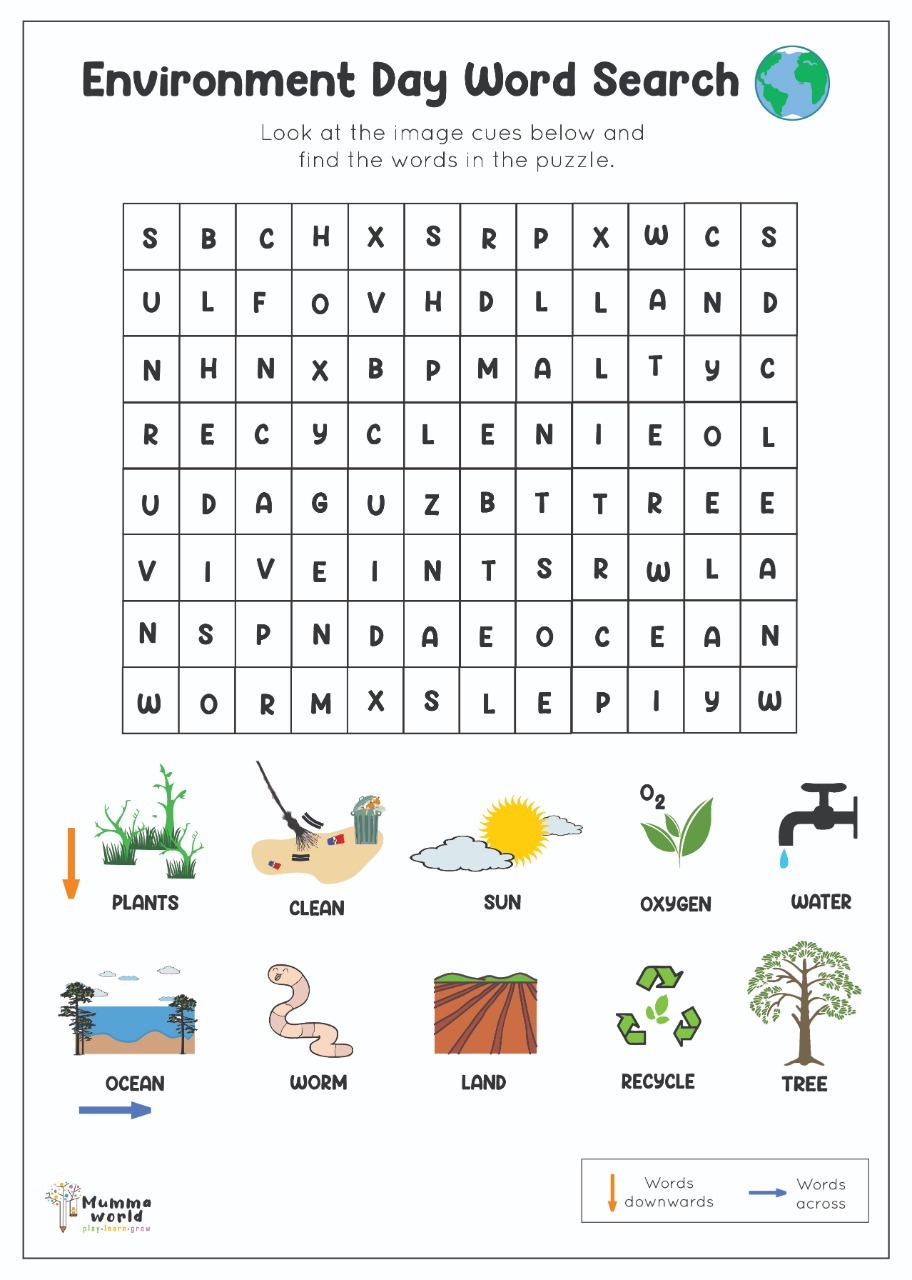 Environment Day Word Puzzle